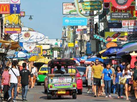 Bangkok, Thailand, holds more than 10 million residents in 606 square miles. The city is home to 13% of the country's population.