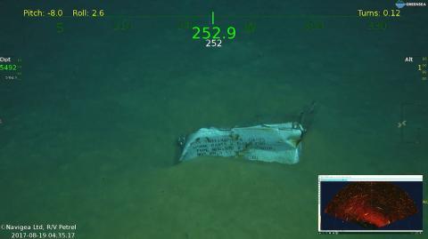 Barco encontrado por Paul Allen