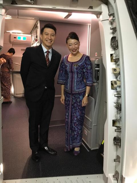 On each flight, we were greeted with a smile by Singapore's cabin crew.
