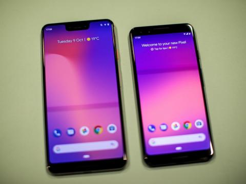 Both phones run the latest version of their company's smartphone operating system.