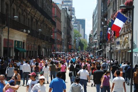 Calle Madero en México DF