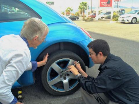 cambiar rueda