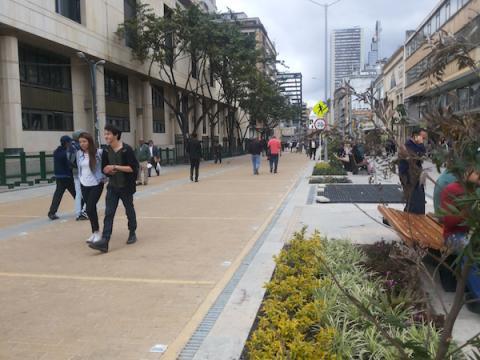 Carrera Séptima, en Bogotá