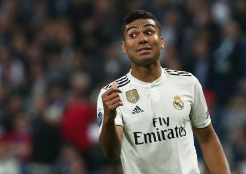 Casemiro, en un partido con el Real Madrid