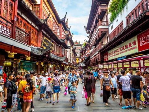 China's total population is 1.4 billion, and Shanghai is home to 25.5 million.