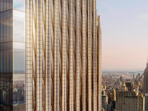 The condo tower recently surpassed the 73rd floor, and it is expected to top out in January 2019.