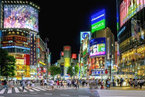 Cruce de Shibuya en Tokyo. Japón.