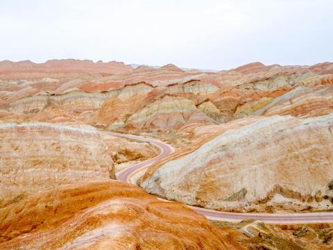 The Danxia landform is a spectacular sight, but I'm including it on this list because its beauty is exaggerated in many of the photos you see online. This is how it looked when I visited. Compare those colors to the previous