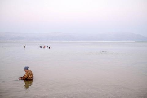 The Dead Sea and the surrounding landscape was undoubtedly beautiful, particularly at sunrise and sunset.