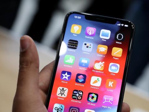 Detalle del Iphone XS