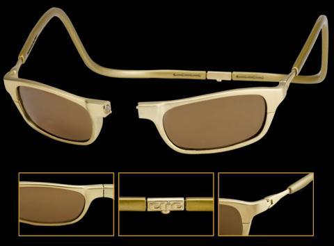 Detalles de las gafas de sol de oro de 18 kilates Clic Gold