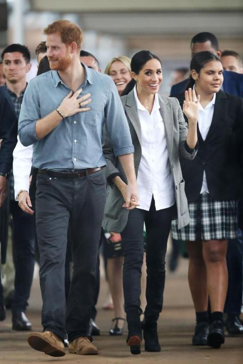 The duchess also wore the jeans during a visit to Dubbo, Australia.