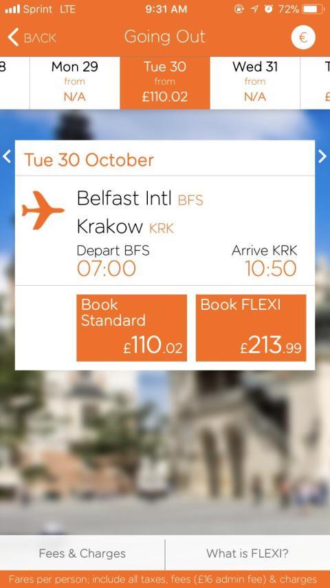 easyJet te permite escoger entre fechas para reservar el potencial vuelo [RE]