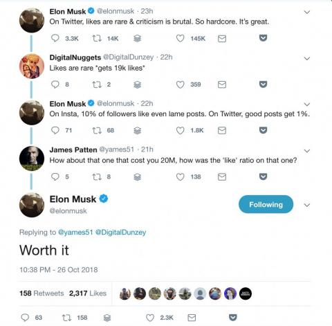 Elon Musk criticized federal regulators on Twitter and said the $20 million fine he paid over his 'funding secured' tweet was 'worth it'