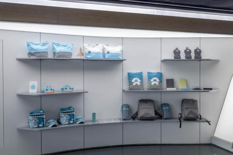 To that end, there's a ton of Nio merchandise available to purchase in the Nio House.