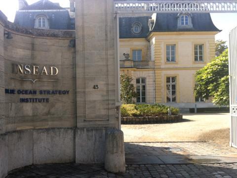 Entrada del INSEAD en Fontainebleau (Francia)