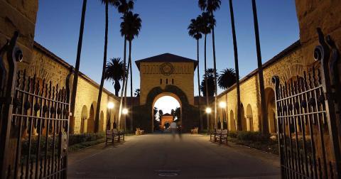 Entrada de la Stanford University, en Palo Alto (EE.UU.)