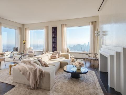 The expansive 8,255-square-foot penthouse on the 95th floor includes six bedrooms and seven bathrooms.