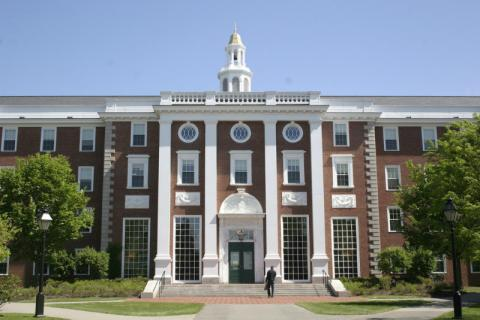 Fachada del Harvard Business School, en Boston