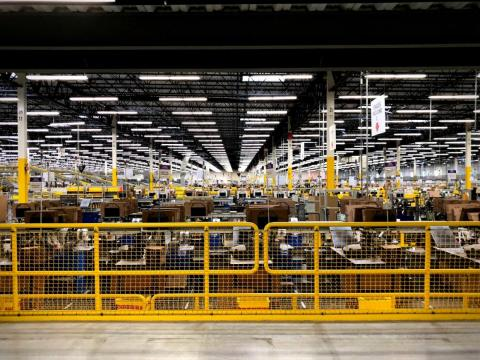 The facility is vast — just under 1 million square feet — and contains 18 miles of conveyor belts.