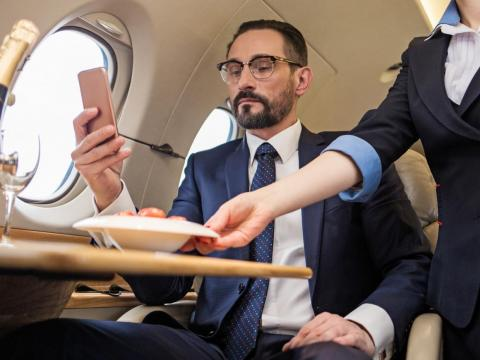 """Fast-charging USB ports for passengers' phones and personal devices are a must,"" Roth said. ""Streaming music or video content throughout the aircraft is becoming almost commonplace today."""