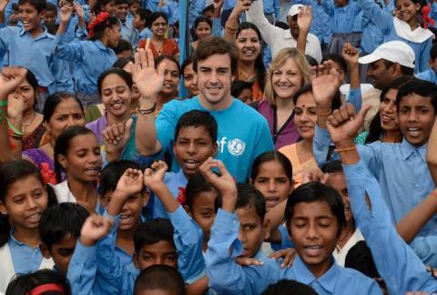 Fernando Alonso, embajador de buena voluntad de Unicef