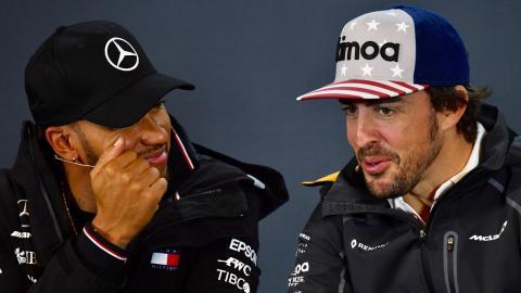 Fernando Alonso y Lewis Hamilton