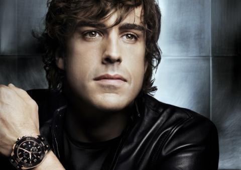 Fernando Alonso, con un reloj Viceroy