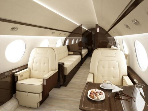 """A fine selection of materials, textures, colors, and proper lighting are key elements in all of our aircraft interior design projects,"" Alfano said."