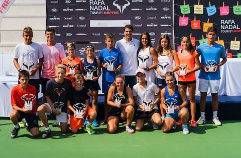 La Fundación Rafa Nadal sufraga programas de desarrollo para jóvenes tenistas