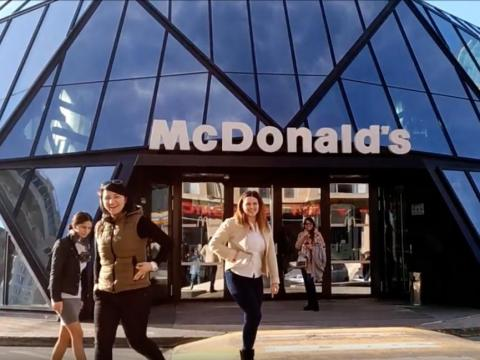 This futuristic McDonald's in Batumi, Georgia, was designed by Georgian architect Giorgi Khmaladze.