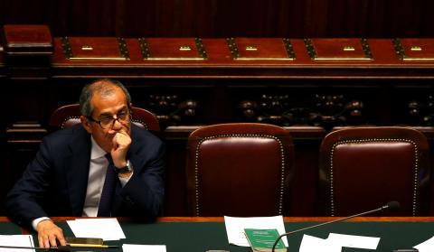 Giovanni Tria, ministro de Finanzas de Italia.