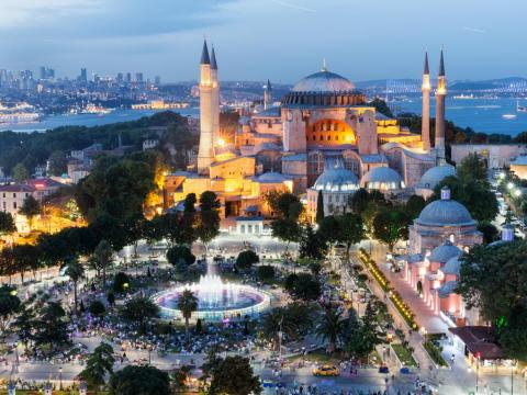 The Hagia Sophia, a former Greek Orthodox Church turned museum, is the most popular tourist destination in Istanbul attracting nearly 3.5 million people annually.