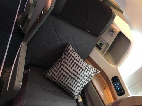 Each seat is 28 inches wide and can recline up to 132 degrees.