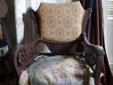 Varios de los muebles antiguos de la casa...
