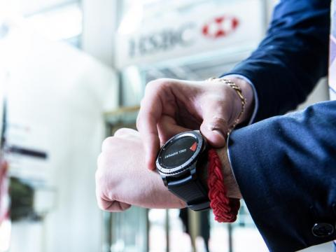 HSBC and Samsung have partnered on a program to bring wearable technology into bank branches.