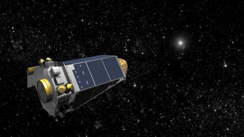 An illustration of NASA's Kepler space telescope.
