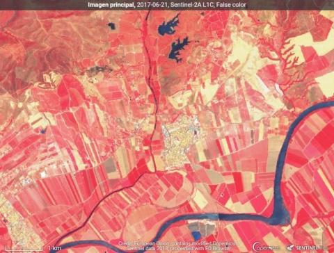Imagen satélite Sentinel