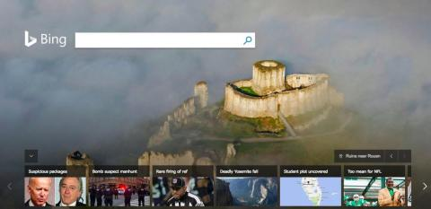 Instead of illustrations, Bing decided to go with daily photographs around the world, often of beautiful landscapes presumably meant to inspire.