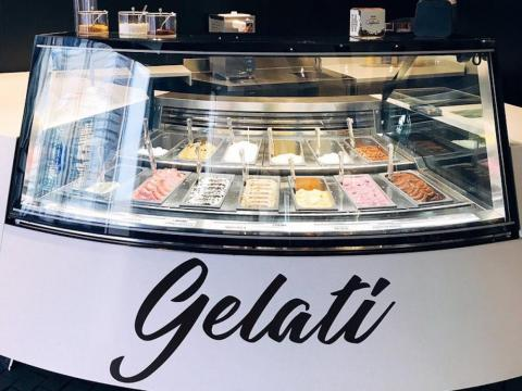 It also has a gelato counter.