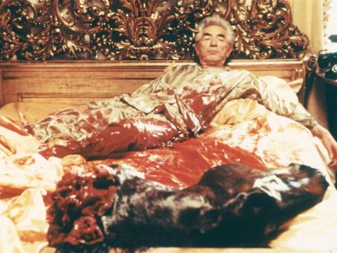 It was the setting for one of the movie's most iconic scenes, in which Woltz wakes up to a bloody, severed horse head in his bed.
