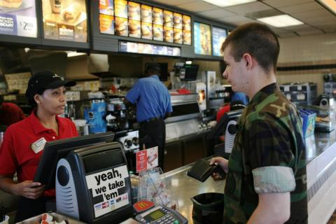 It's the only McDonald's in Cuba and is only accessible to the base's personnel.
