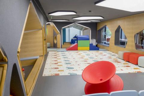 The Joy Camp is a supervised play area for children so that parents can drop them off and work in the Nio House undisturbed or even go shopping nearby.