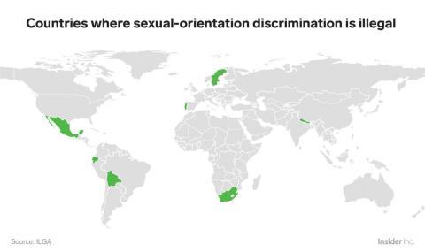 Solo el 5% de los Estados miembros de la ONU han escrito en sus constituciones que no se permite la discriminación basada en la orientación sexual.
