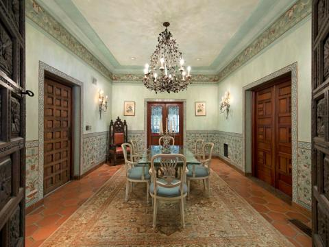 Just imagine eating dinner in this formal dining room.