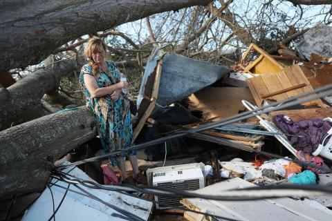 Mexico Beach, a small seaside town, was one of the hardest-hit areas. About 285 of the town's roughly 1,000 residents stayed behind during the hurricane.