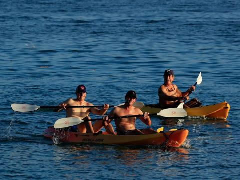 ... kayaks ...