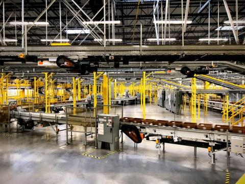 The Kent fulfillment center runs 22 hours a day, 363 days a year.