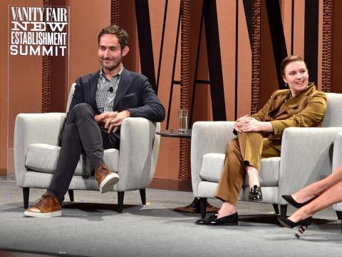 Kevin Systrom, CEO de Instagram, lleva puestas unas Lanvin low-tops.