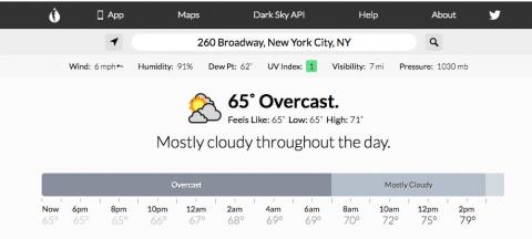 To know the exact minute when it's going to start raining next, use Dark Sky instead of Google Weather.